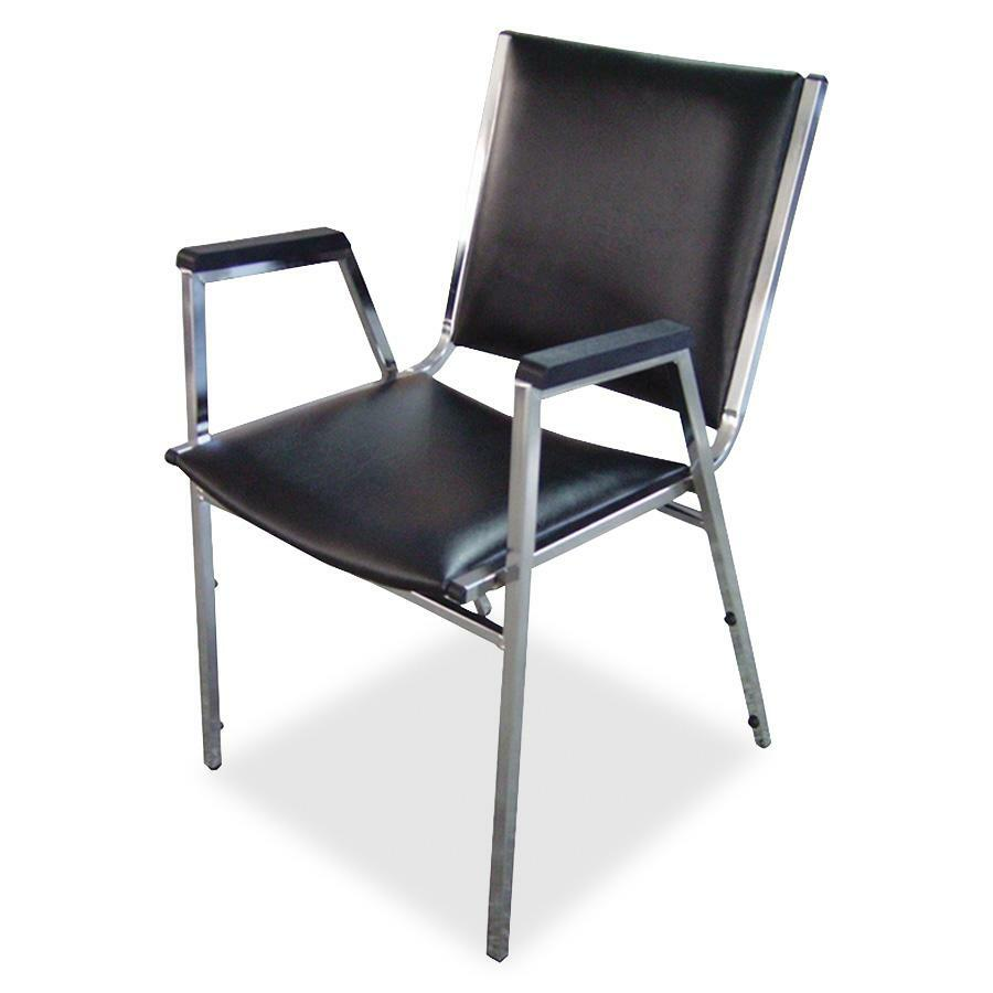 Lorell plastic arm stacking chair for Furniture chairs