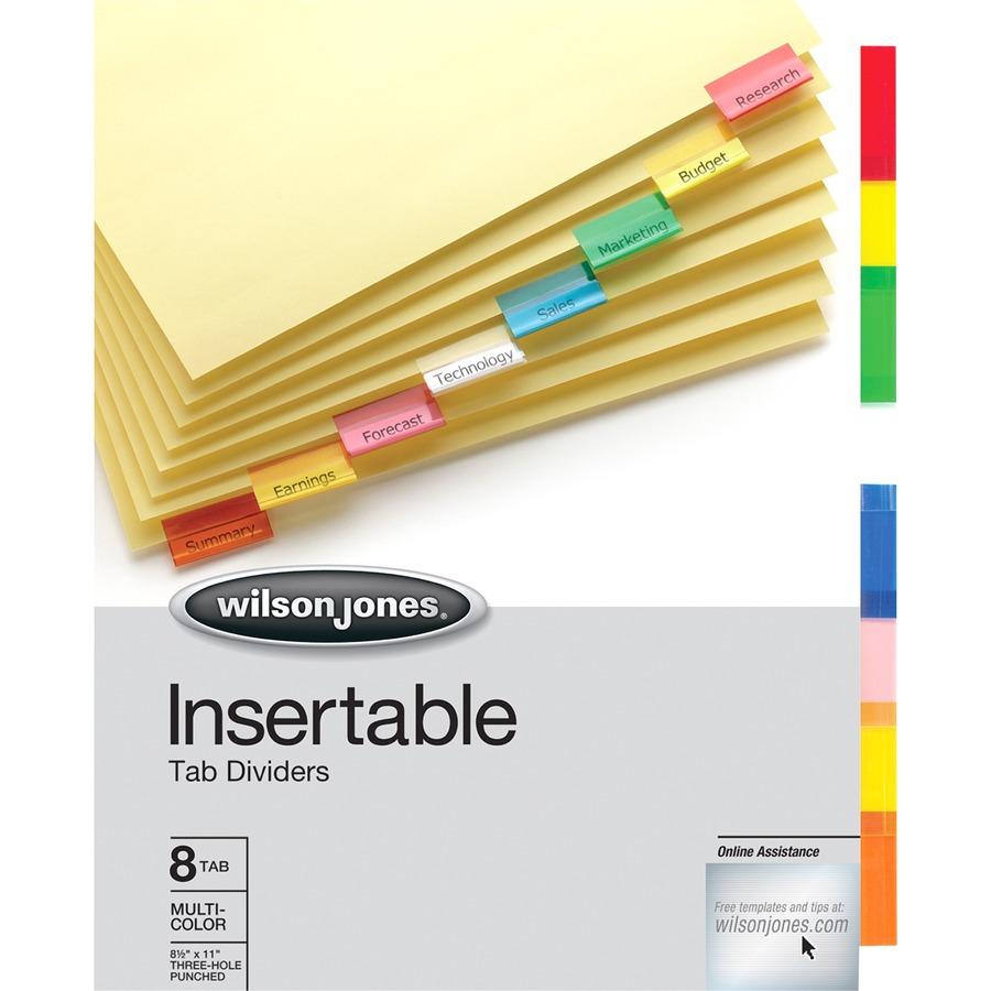 Acco/Wilson Jones 54311, Wilson Jones Insertable Tab Indexes ...