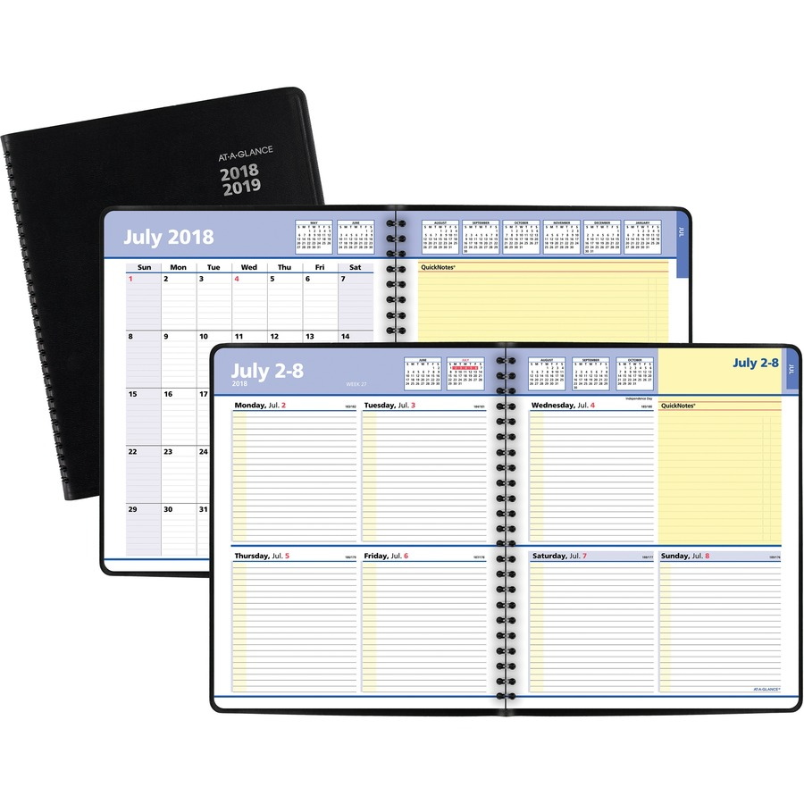 at a glance quicknotes academic weekly monthly planner icc