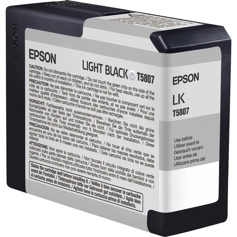Epson UltraChrome K3 Original Ink Cartridge - Inkjet - Light Black - 1 Each