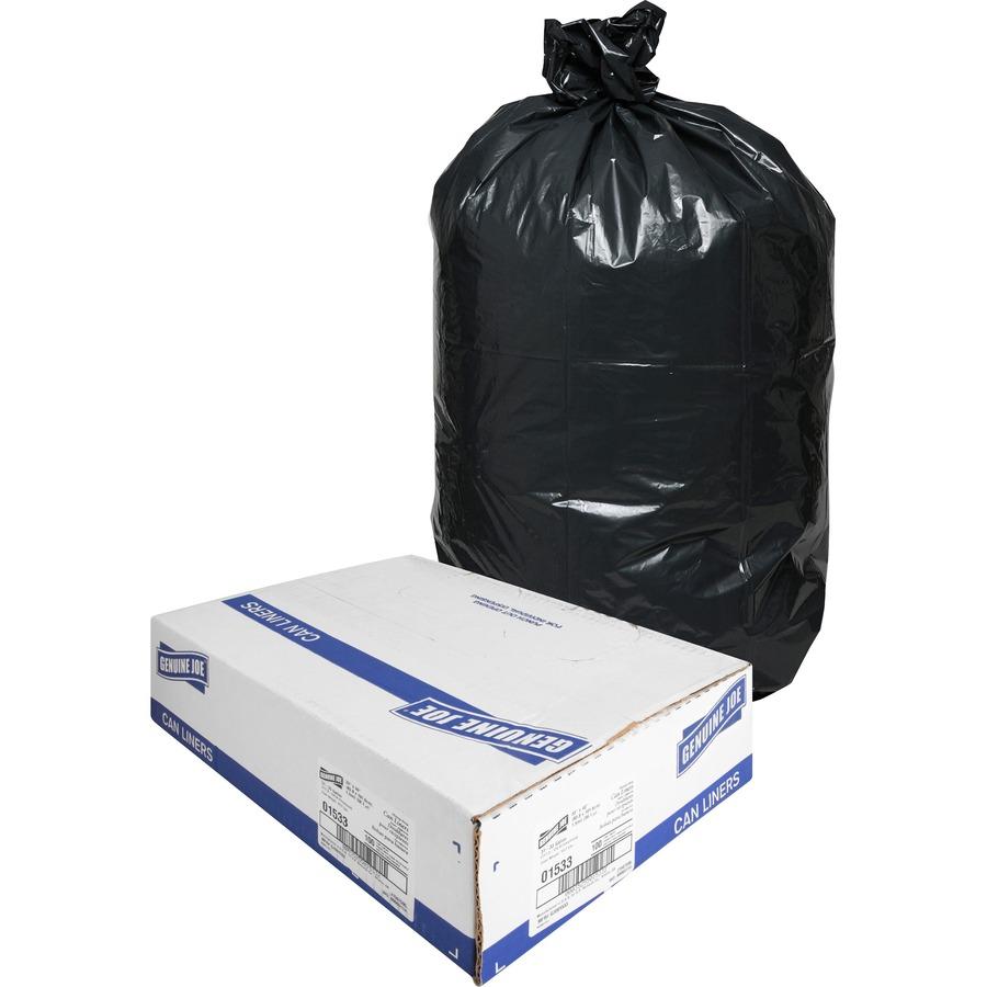 Genuine Joe Heavy-Duty Trash Can Liners - Medium Size - 33 gal - 33