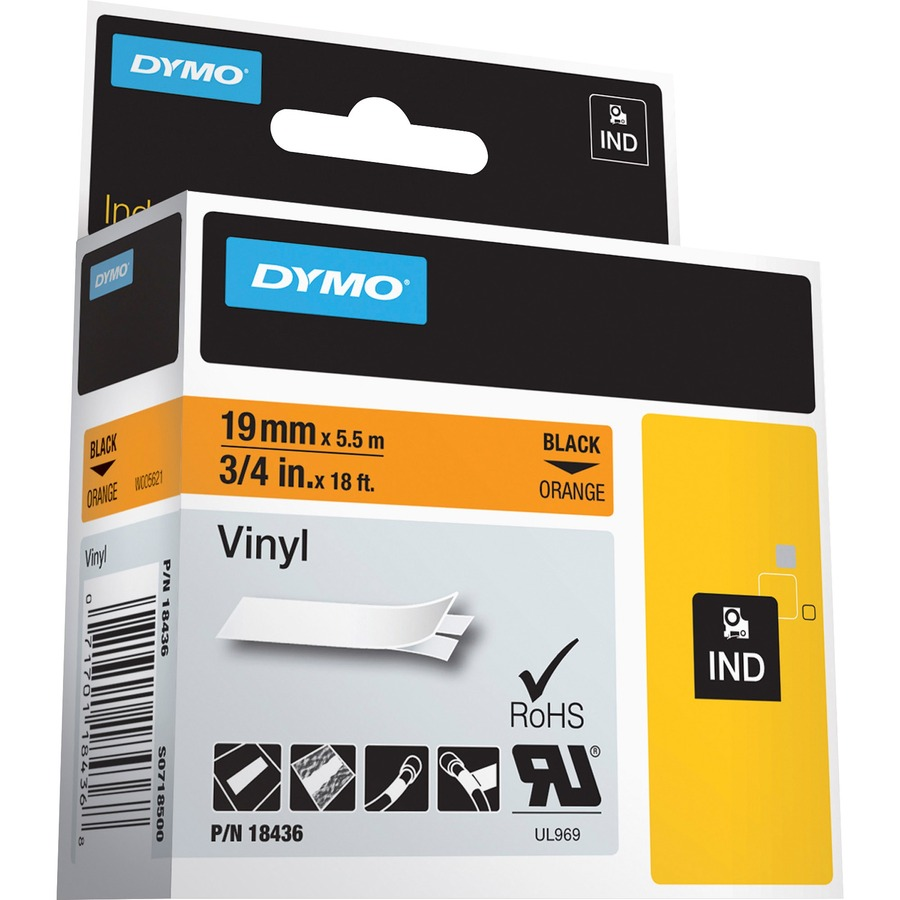 Dymo colored industrial rhino vinyl labels for Dymo label stickers
