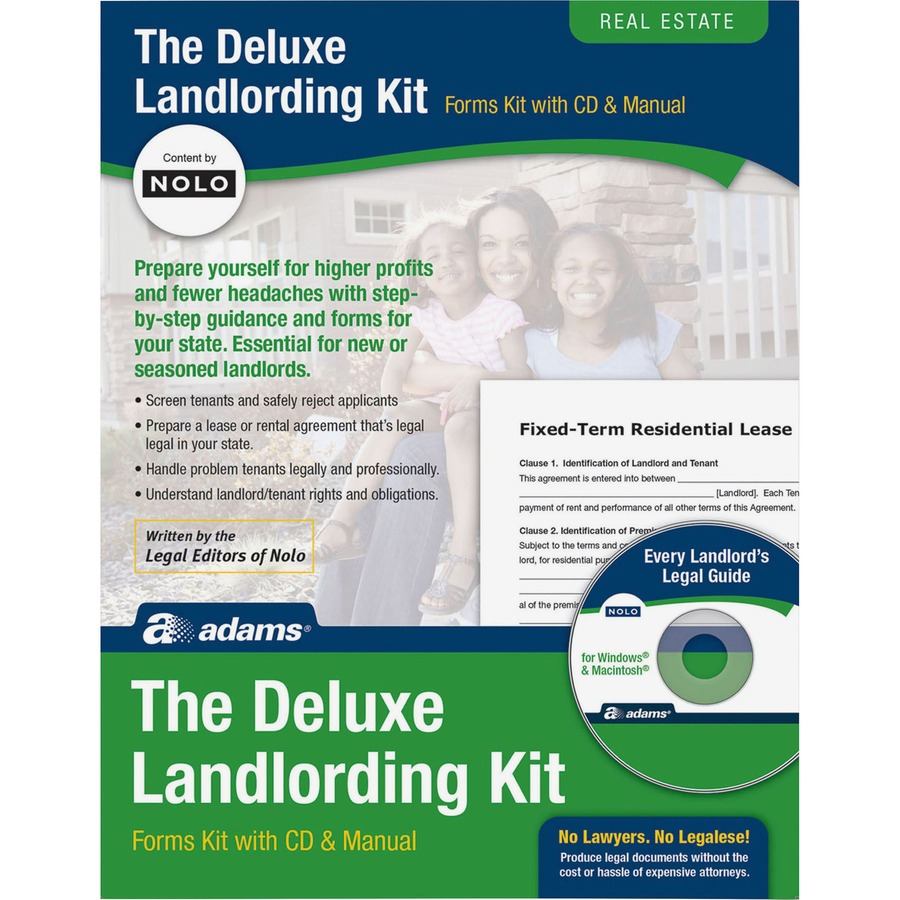 Adams Landlording Made E-Z Kit - Forms and Instructions
