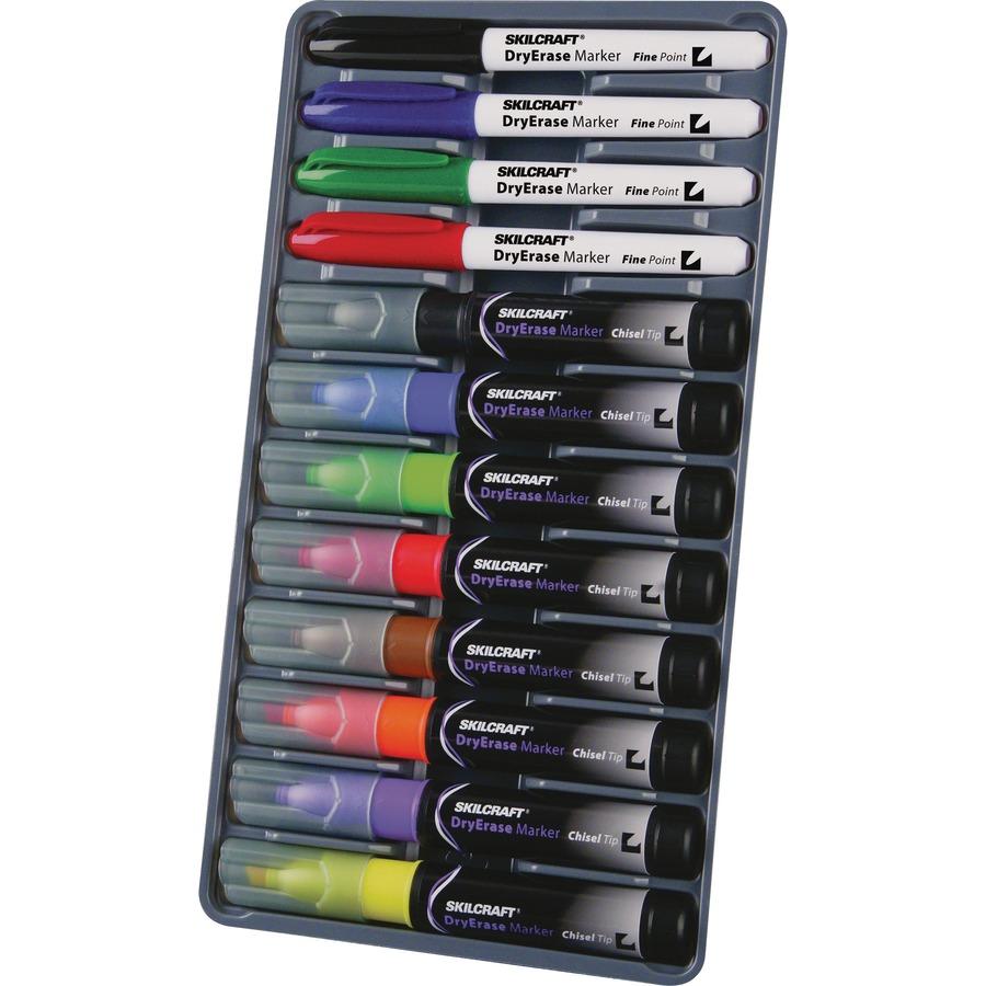 SKILCRAFT 12-Color Dry Erase Marker System