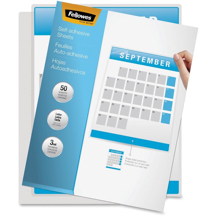 Fellowes 5221502 fellowes self adhesive laminating sheet for Laminato adesivo