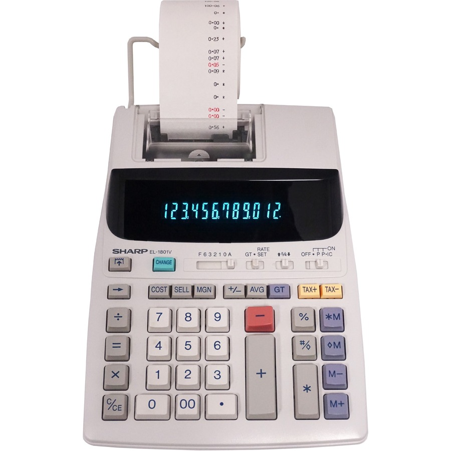 Sharp El 1801v 12 Digit Printing Calculator Shrel1801v