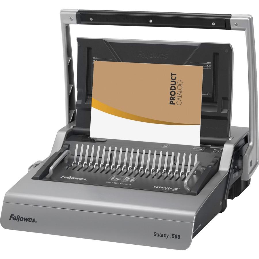 Fellowes Galaxy™ 500 Comb Binding Machine w/ Starter Kit - CombBind - 500  Sheet(s) Bind - 28 Punch - 6 5