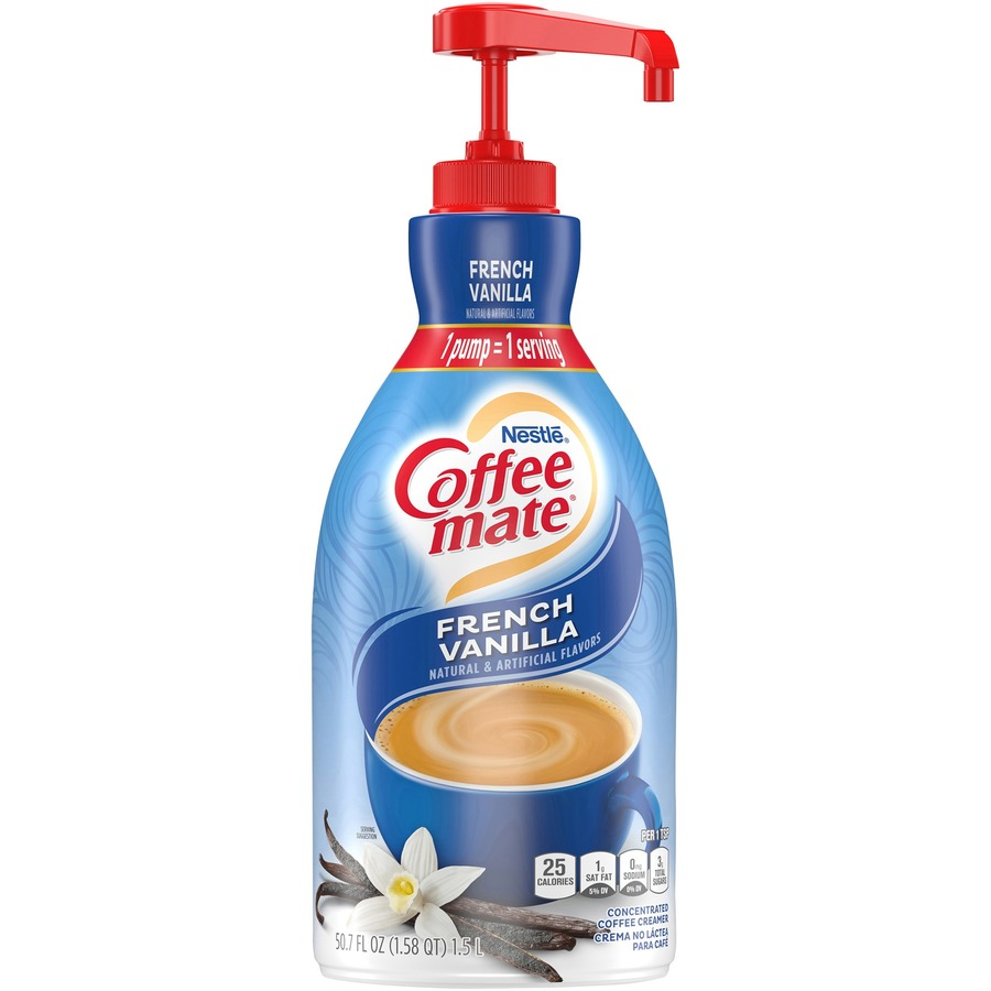 Nestlé® Coffee-mate® Coffee Creamer French Vanilla - 1 5L liquid pump  bottle - French Vanilla Flavor - 50 72 fl oz (1 50 L) - 1Each - 300 Serving
