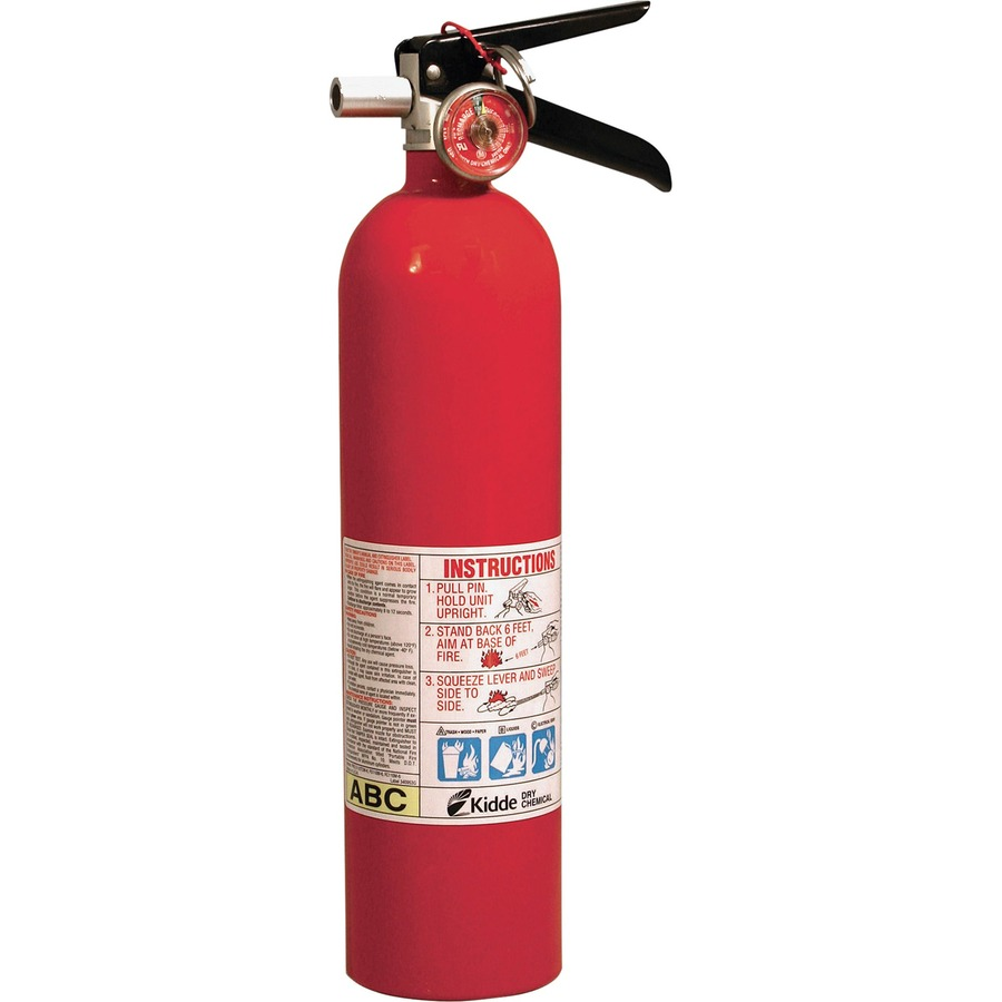 Kidde Fire Pro 2.6 Fire Extinguisher - 2.60 lb Capacity - A: Common  Combustibles, B: Flammable Liquids, C: Live Electrical Equipment -  Rechargeable, ...