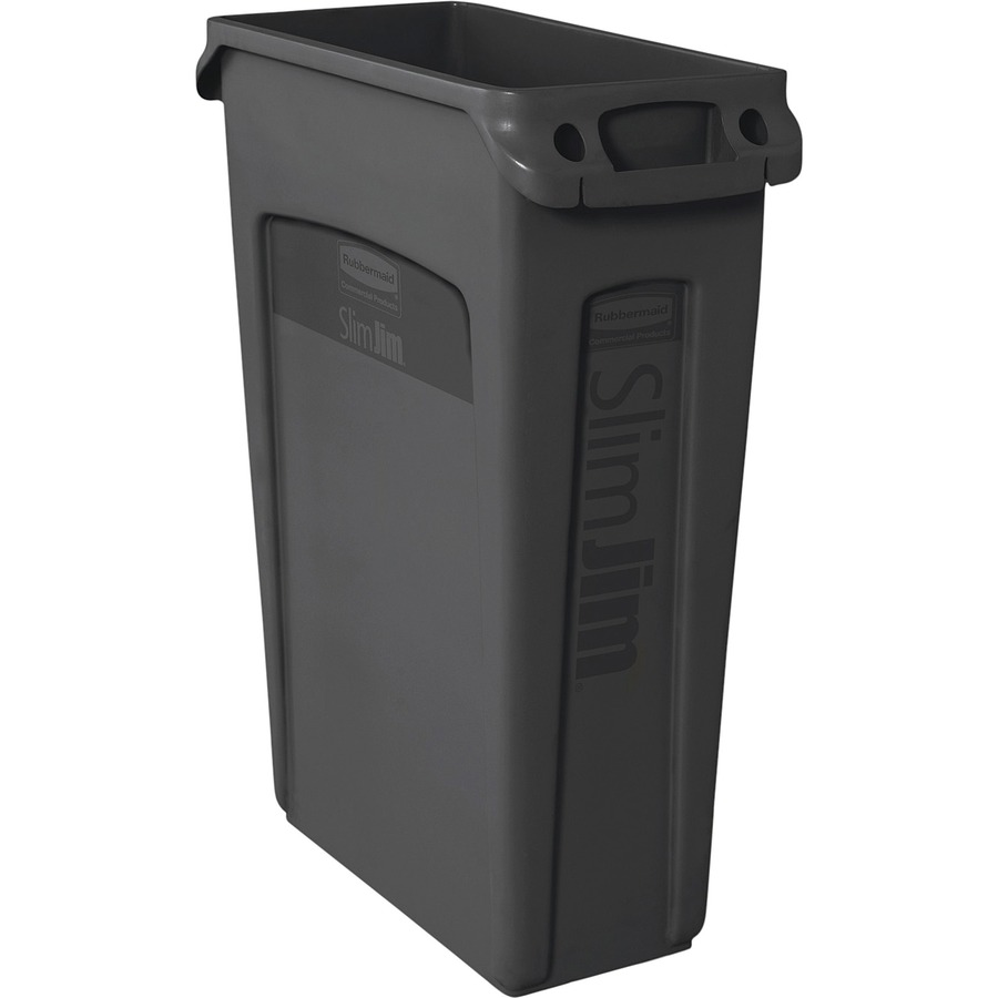 Rubbermaid Commercial Venting Slim Jim Waste Container Rcp354060bk