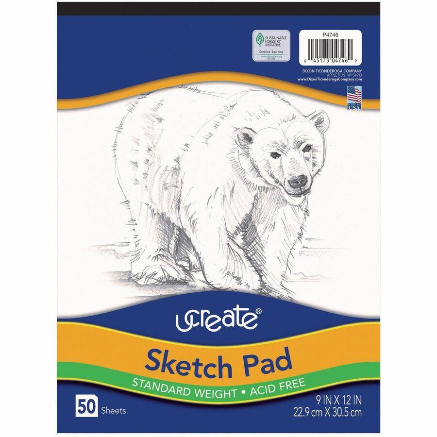 Art1st Medium Weight Sketch Pads - 50 Sheets - 9