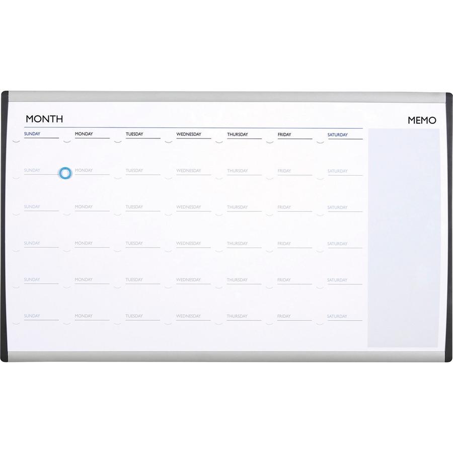 Quartet Arccp3018 Quartet Magnetic Dry Erasecork Calendar Frame