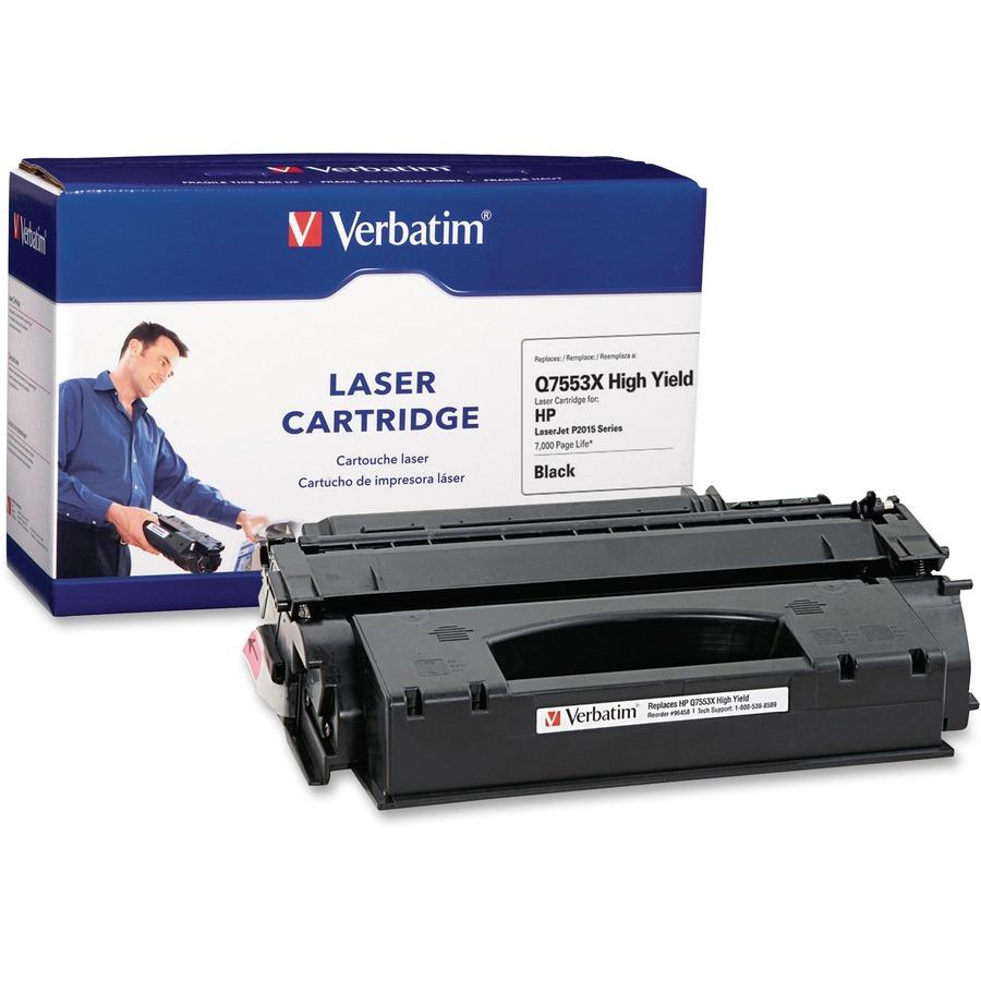 ver96458 verbatim high yield remanufactured laser toner cartridge alternative for hp q7553x zuma. Black Bedroom Furniture Sets. Home Design Ideas