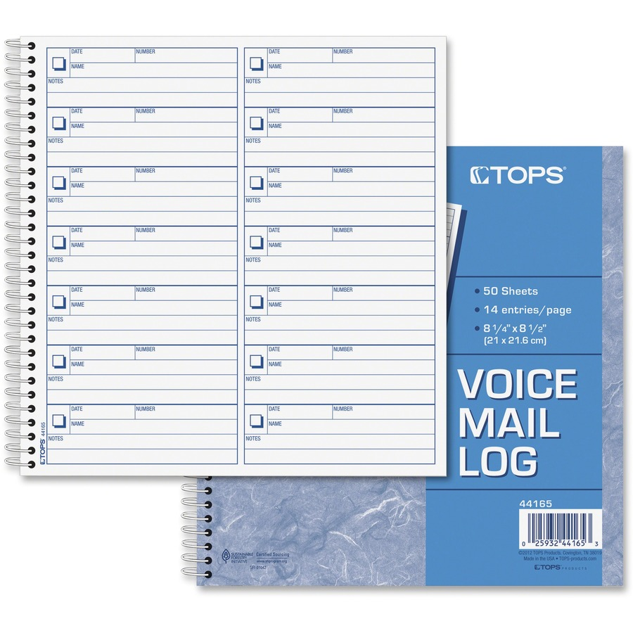 Wholesale Prices On TOPS Voice Message Log Book Discount