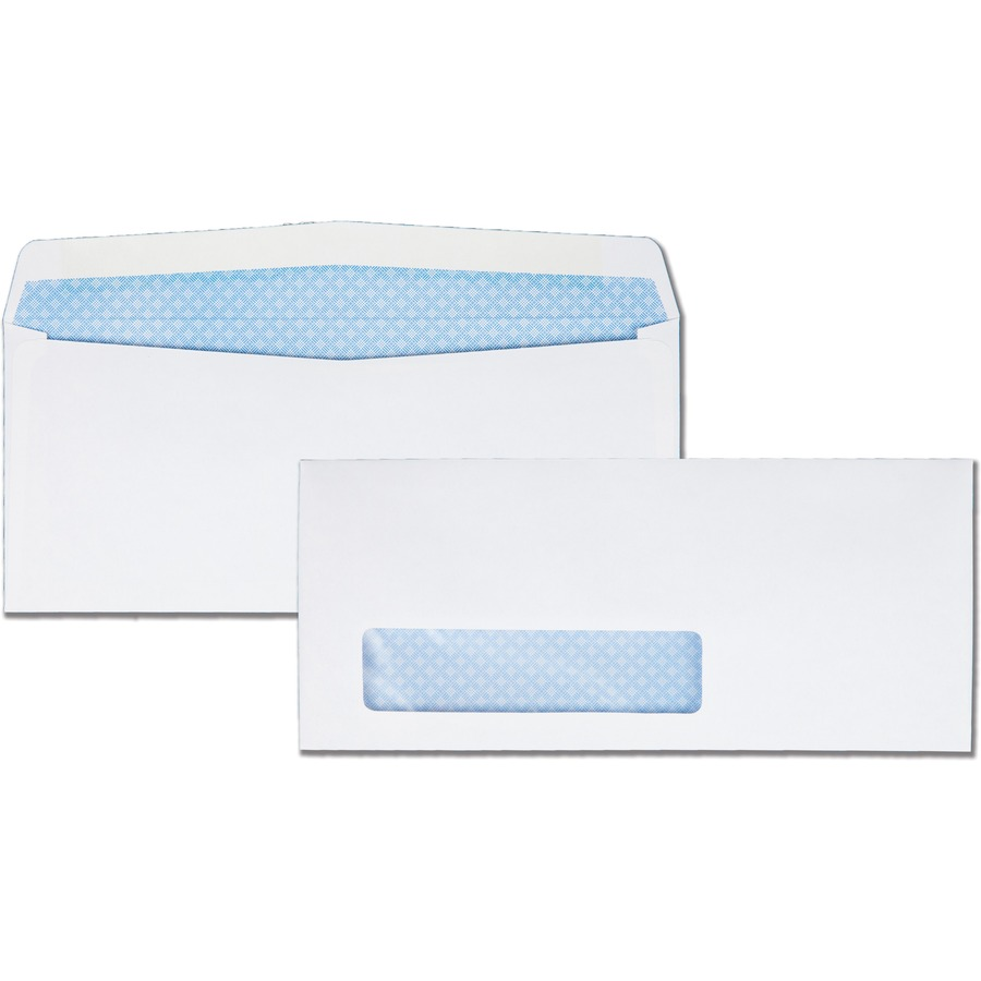 Quality park wove finish security window envelope for Window envelopes
