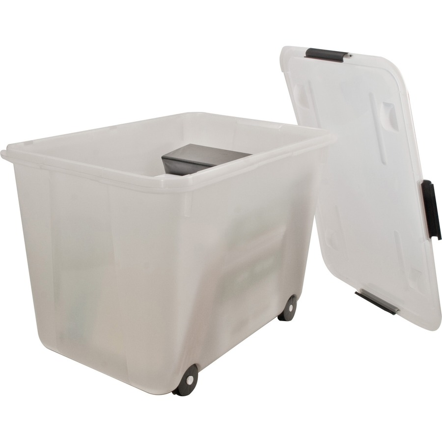 Advantus 15 Gallon Rolling Storage Tub AVT34009