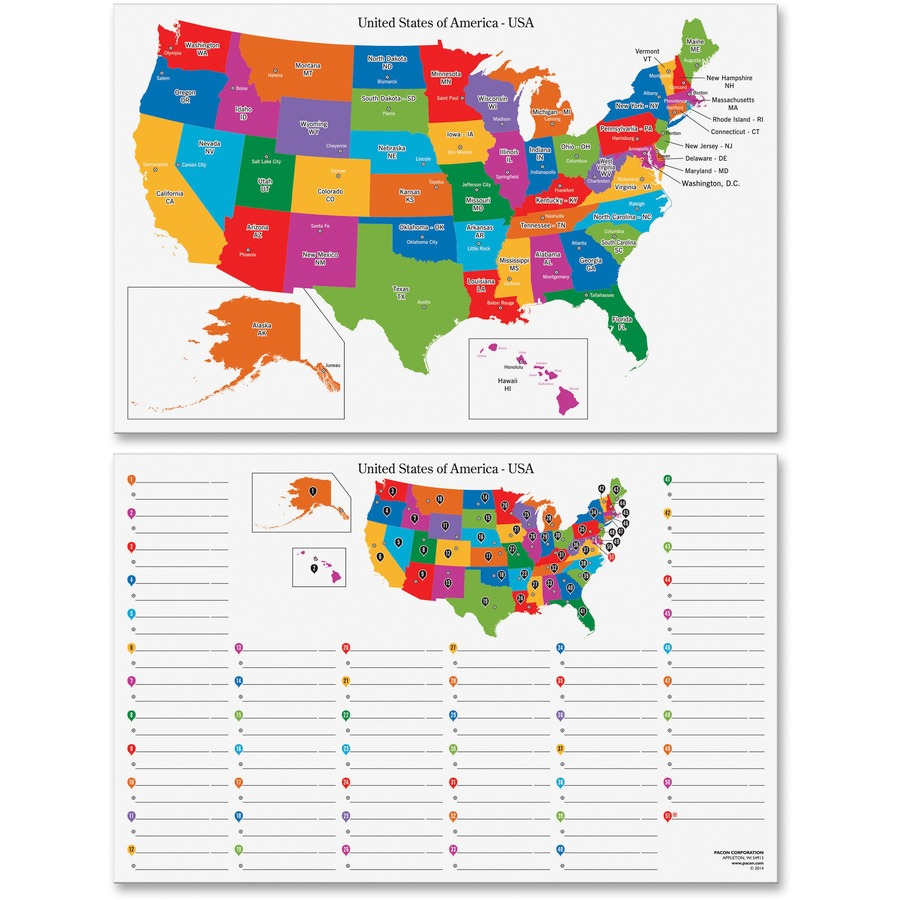 Pacon Dry Erase Learning Board Maps - 11