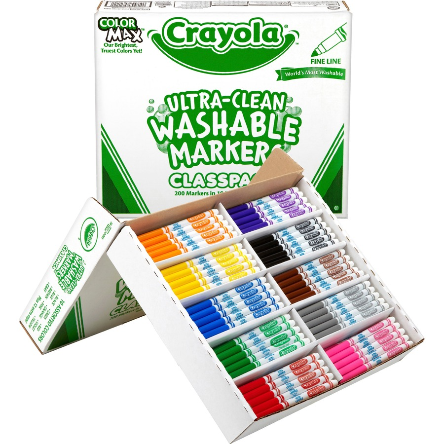Crayola fine line markers classpack Crayola fashion design studio reviews