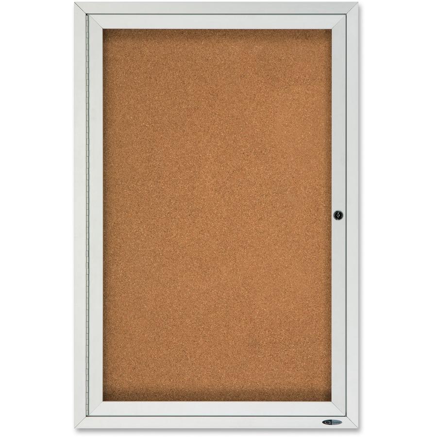 Quartet Enclosed Cork Outdoor Bulletin Board Qrt2121