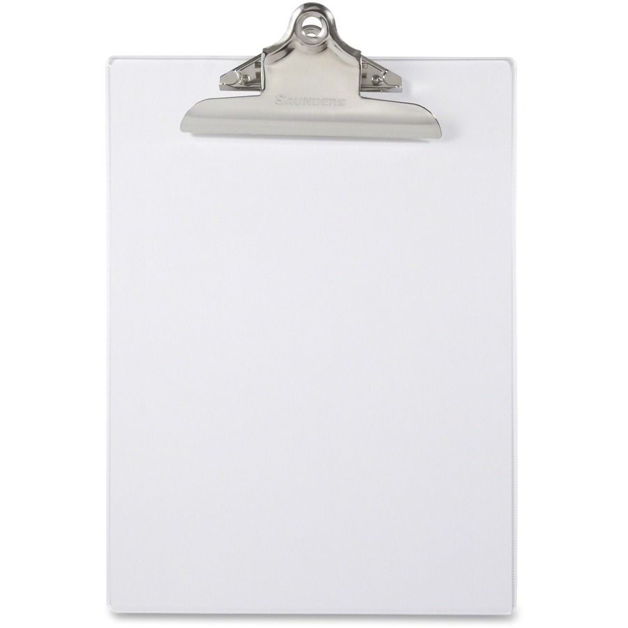 Saunders Transparent Clipboard With High Capacity Clip SAU21803