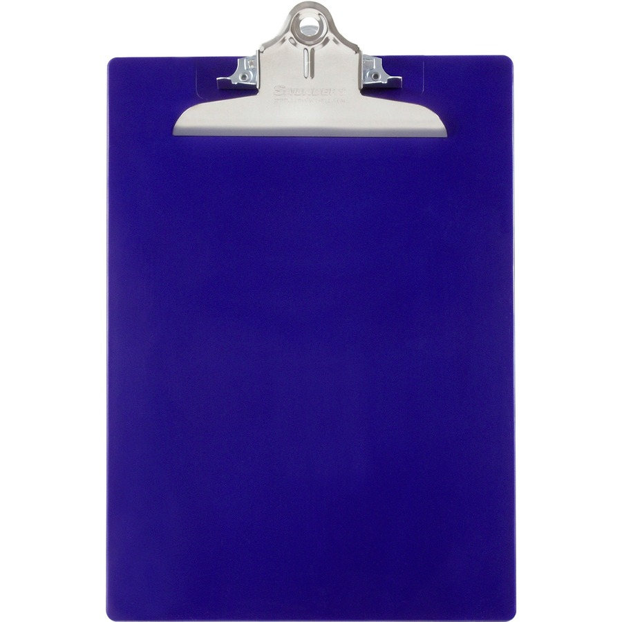 Plastic Clipboard with High Capacity Clip 8 1//2 x 12 1 Capacity Blue