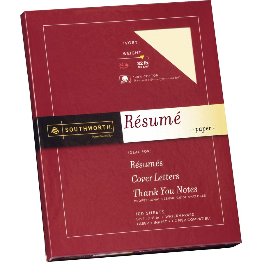 southworth rd18icf  southworth linen resume paper