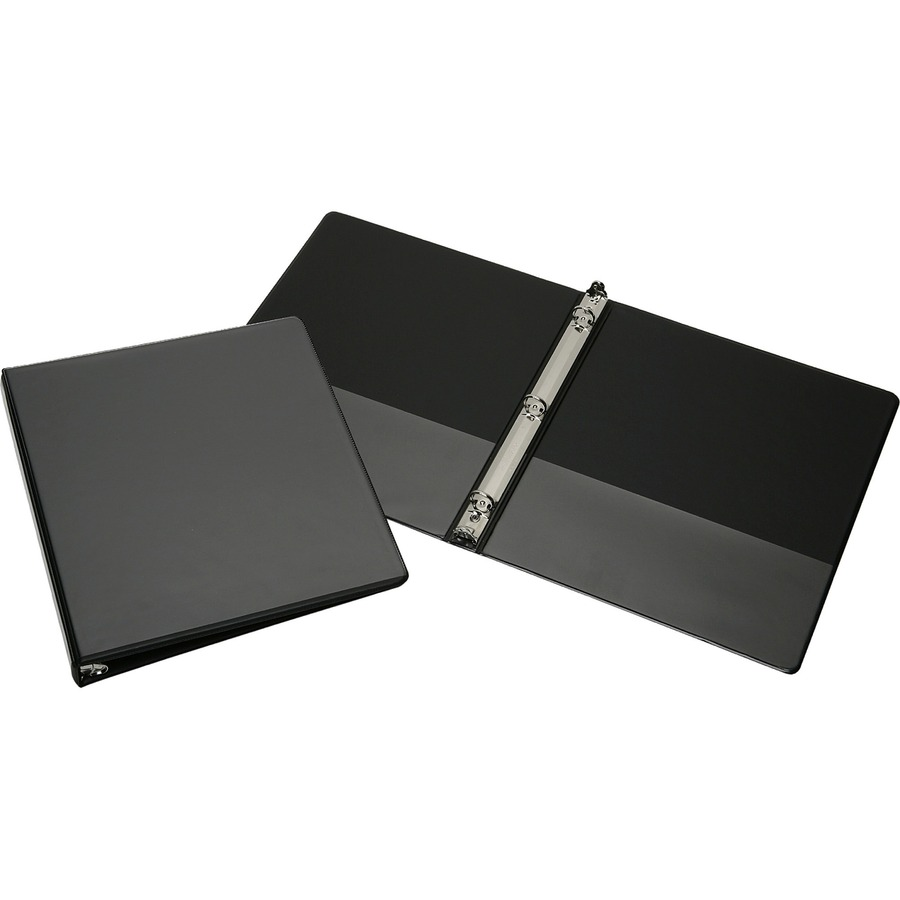 SKILCRAFT Faux Leather View Binder With Pockets