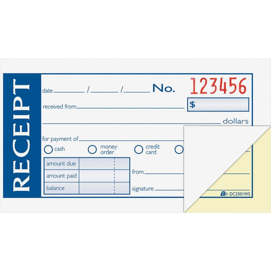Adams DC2501WS, Adams Money/Rent Receipt Book, ABFDC2501WS, ABF ...
