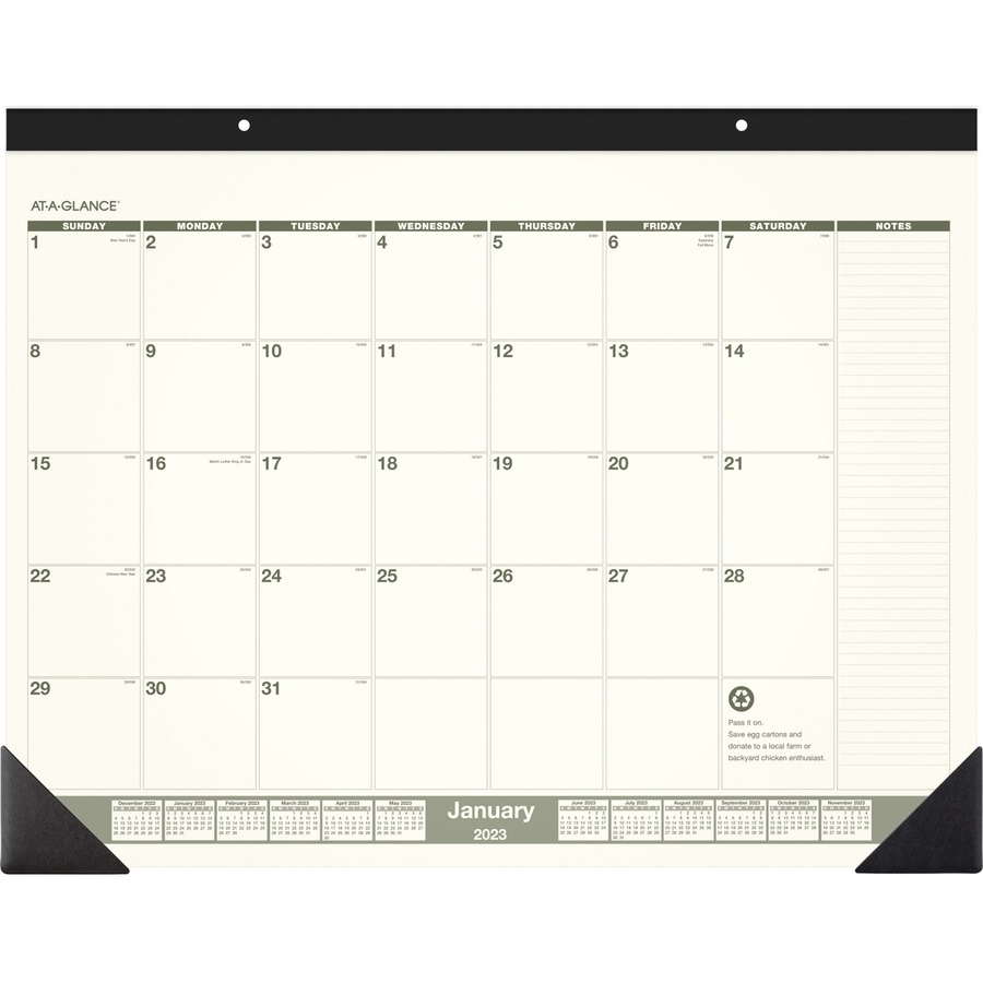 6e7006d7df9 At-A-Glance Recycled Green Living Desk Pad AAGSK32G00