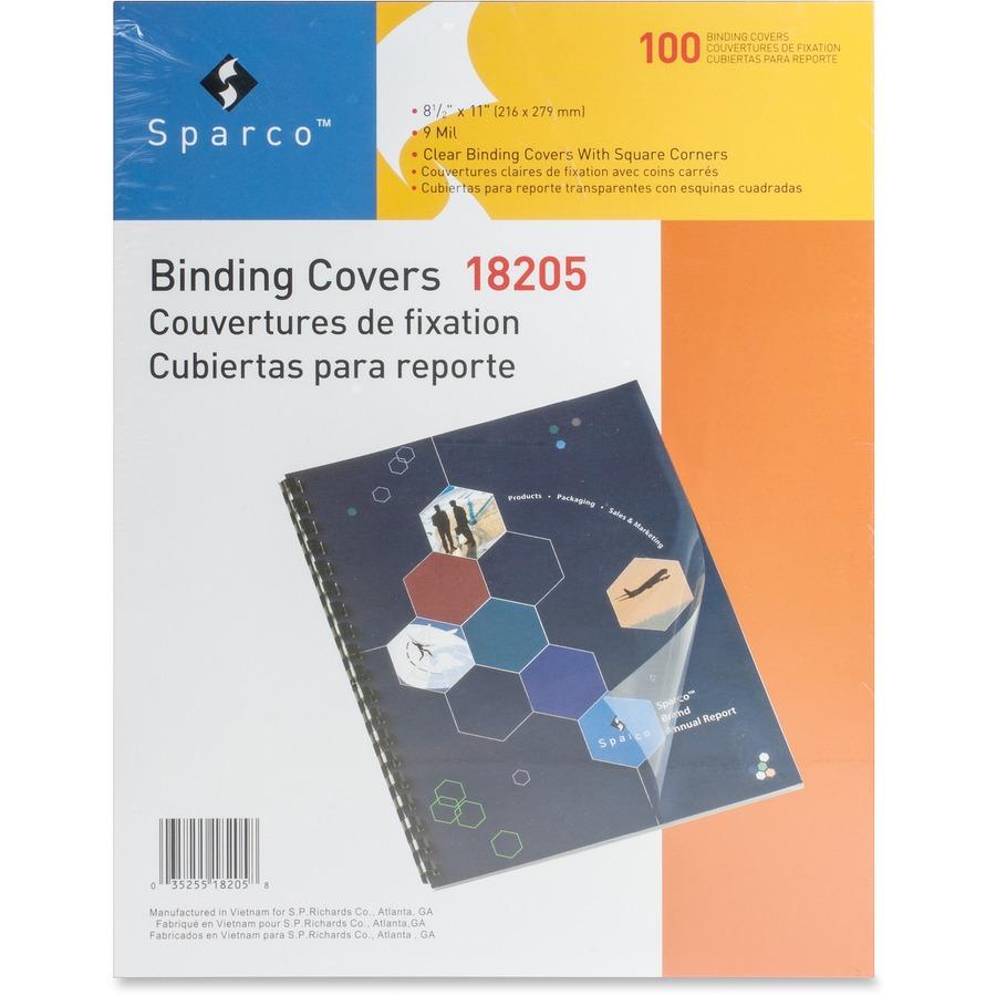 Sparco Clear View 18205 Premium Presentation Cover Spr18205