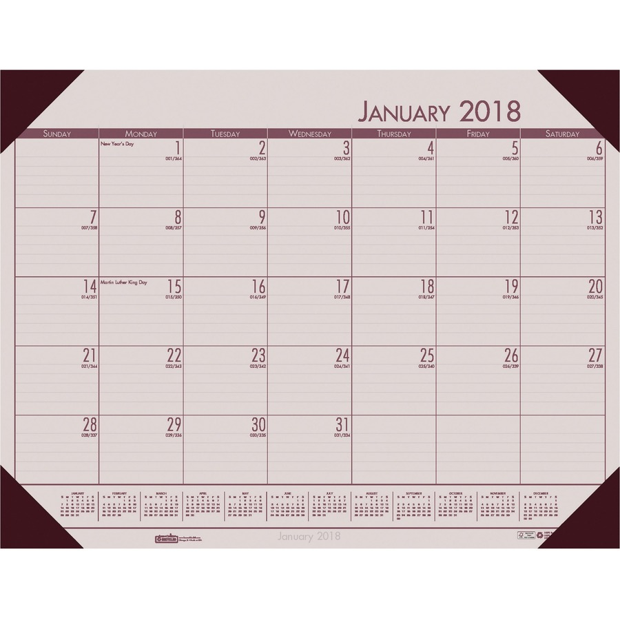 House Of Doolittle Ecotones Desk Pad Calendar