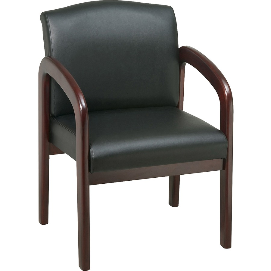Lorell 60471 Lorell Deluxe Guest Chair Mahogany Frame