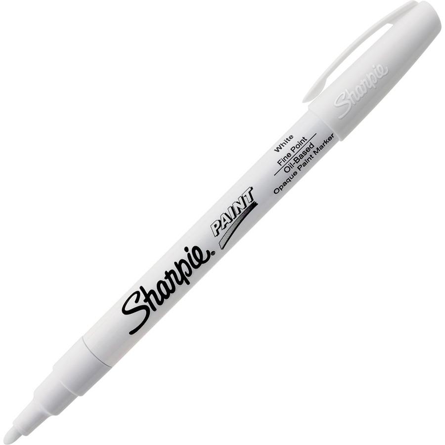 Sharpie Oil Base Fine Paint Markers Fine Marker Point White Oil Based Ink 1 Each