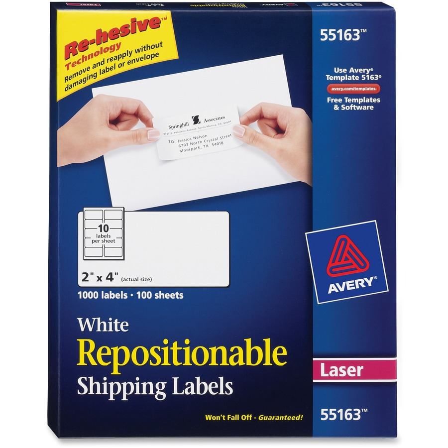 avery repositionable mailing labels icc business products