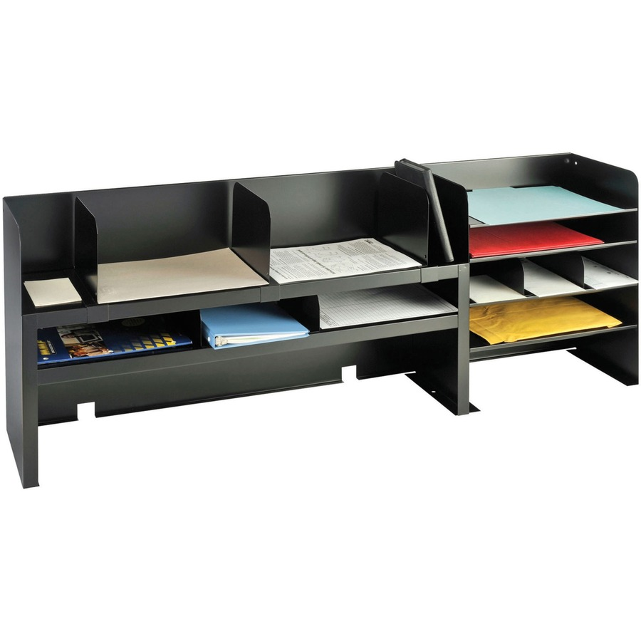 MMF Desk Organizers With Movable Shelves  MMF2061DOBK on bulk tables and chairs