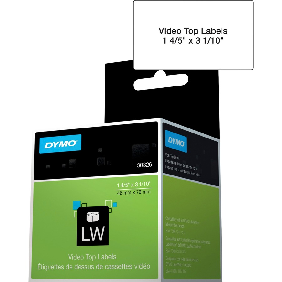 Dymo LabelWriter Video Spine Labels - 1 4/5