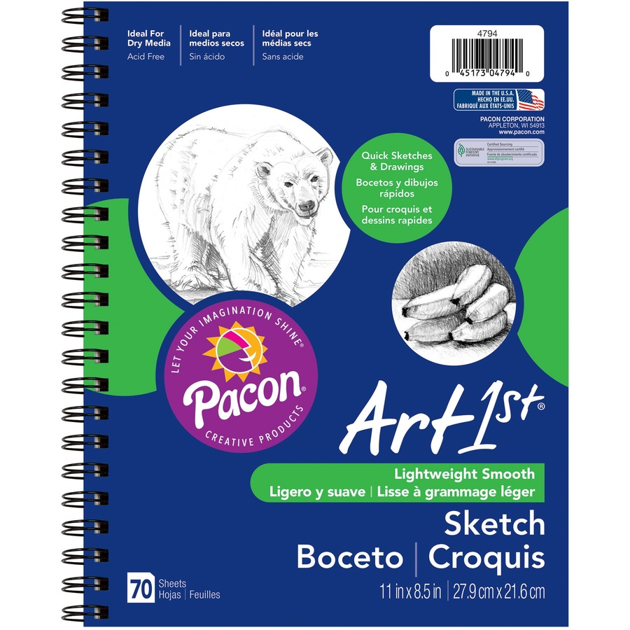 Pacon 4794 UCreate Sketch Diary 70 Sheets 2 Pack 8.5 x 11