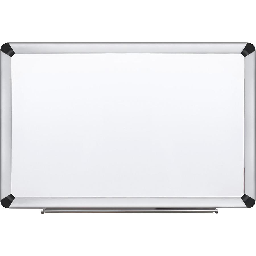 3M Aluminum Frame Porcelain Dry-erase Board MMMP4836FA