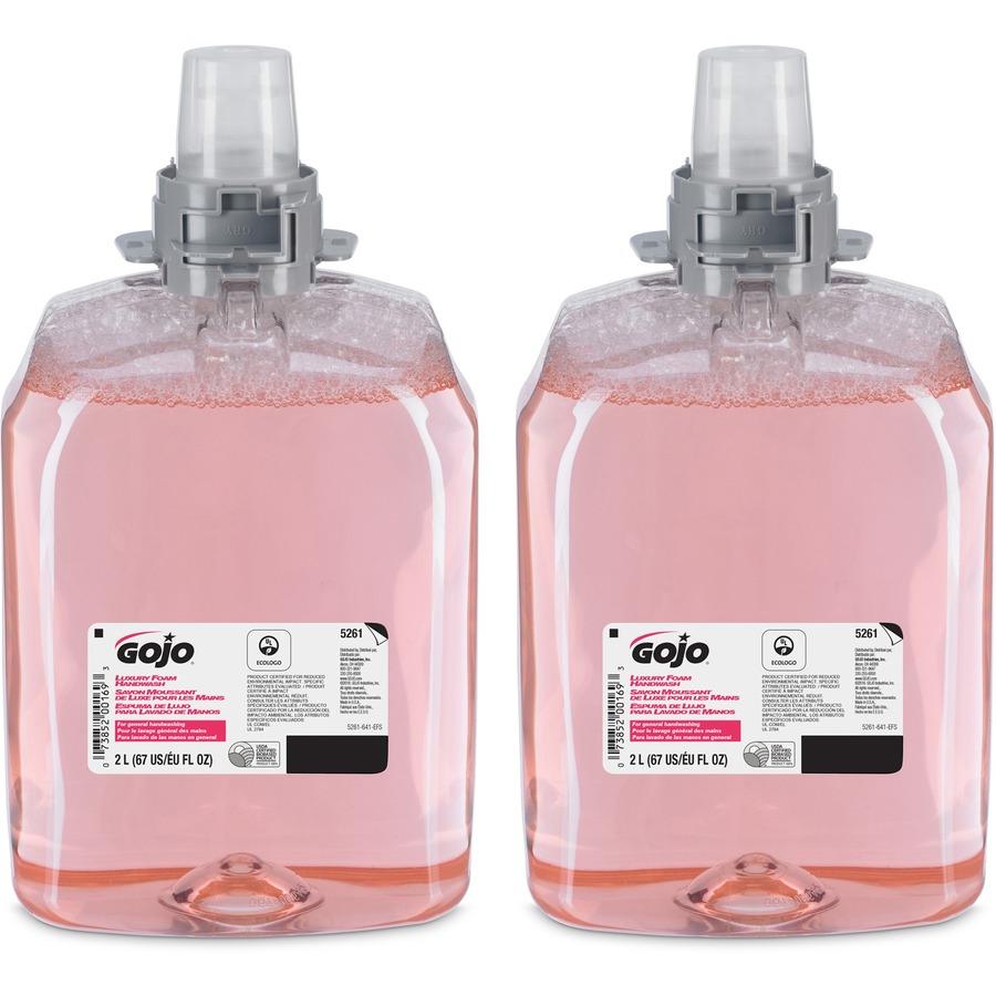 Gojo® FMX-20 Luxury Foam Soap - Cranberry Scent - 67 6 fl oz (2 L) - Hand -  Translucent Pink - Moisturizing - 2 / Carton