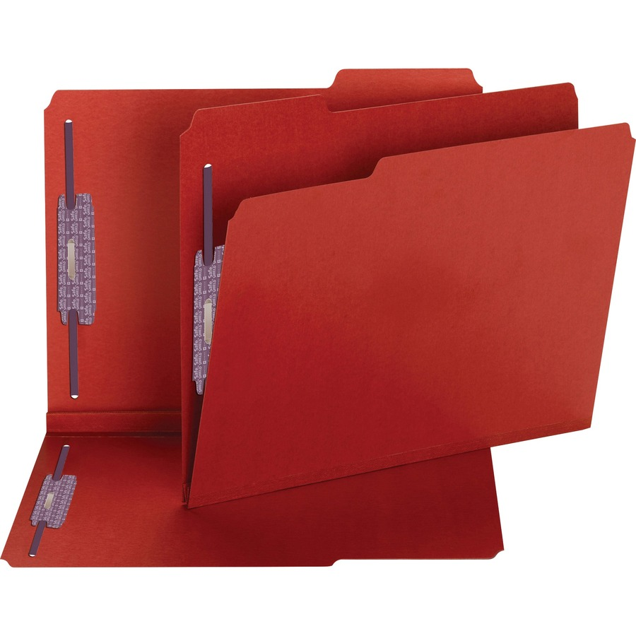Smead 14936 Bright Red Colored Pressboard Fastener File