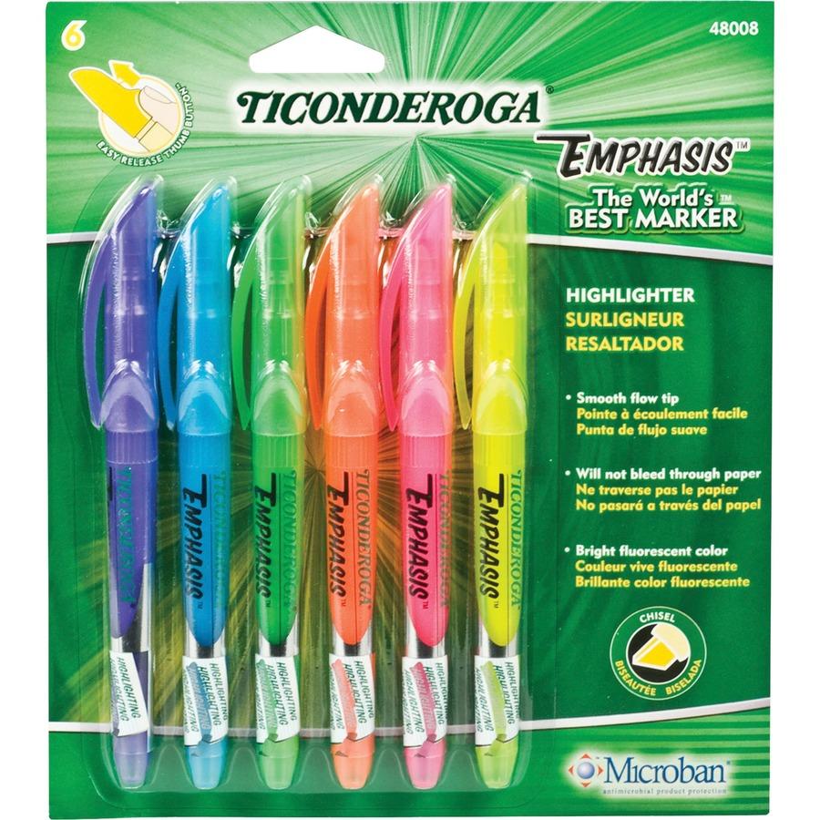 Dixon Fluorescent Colors Pocket Highlighters Dix48008