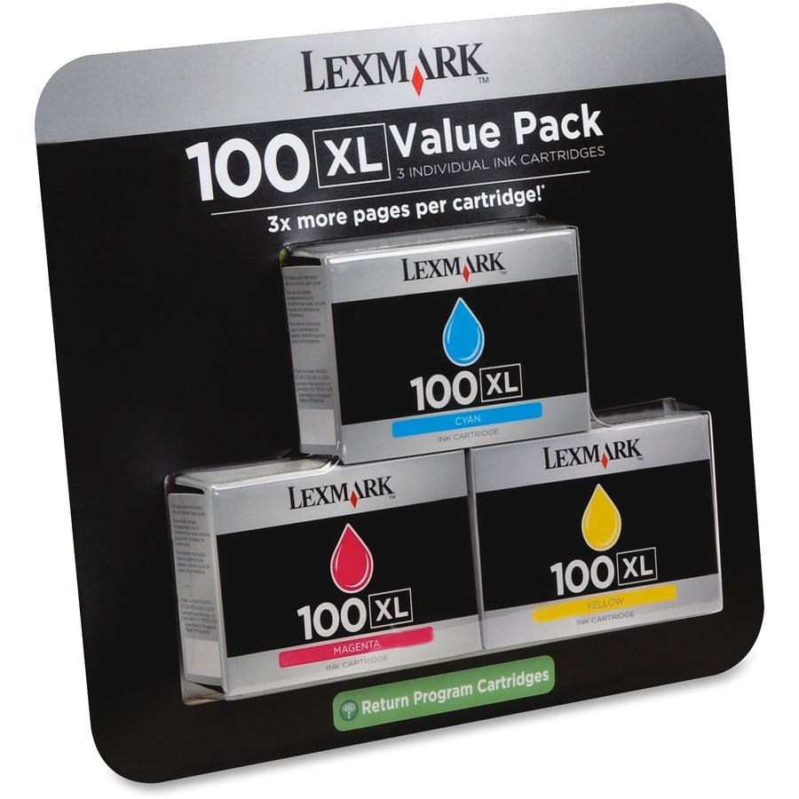 Lexmark 100XL Ink Cartridge : 1014366033 from www.bulkofficesupply.com size 900 x 900 jpeg 116kB
