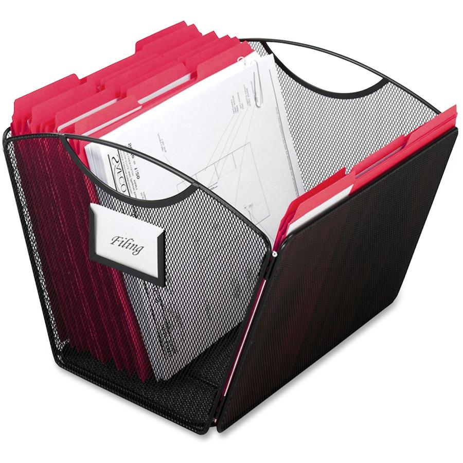 Safco Onyx Mesh Desktop Tub File Saf2162bl