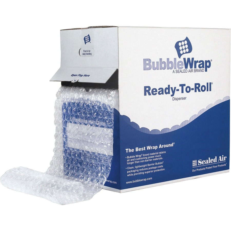 Bubble Cushioning Wrap 24 Wide x 65 Large Bubbles 1//2 Size Perf 12