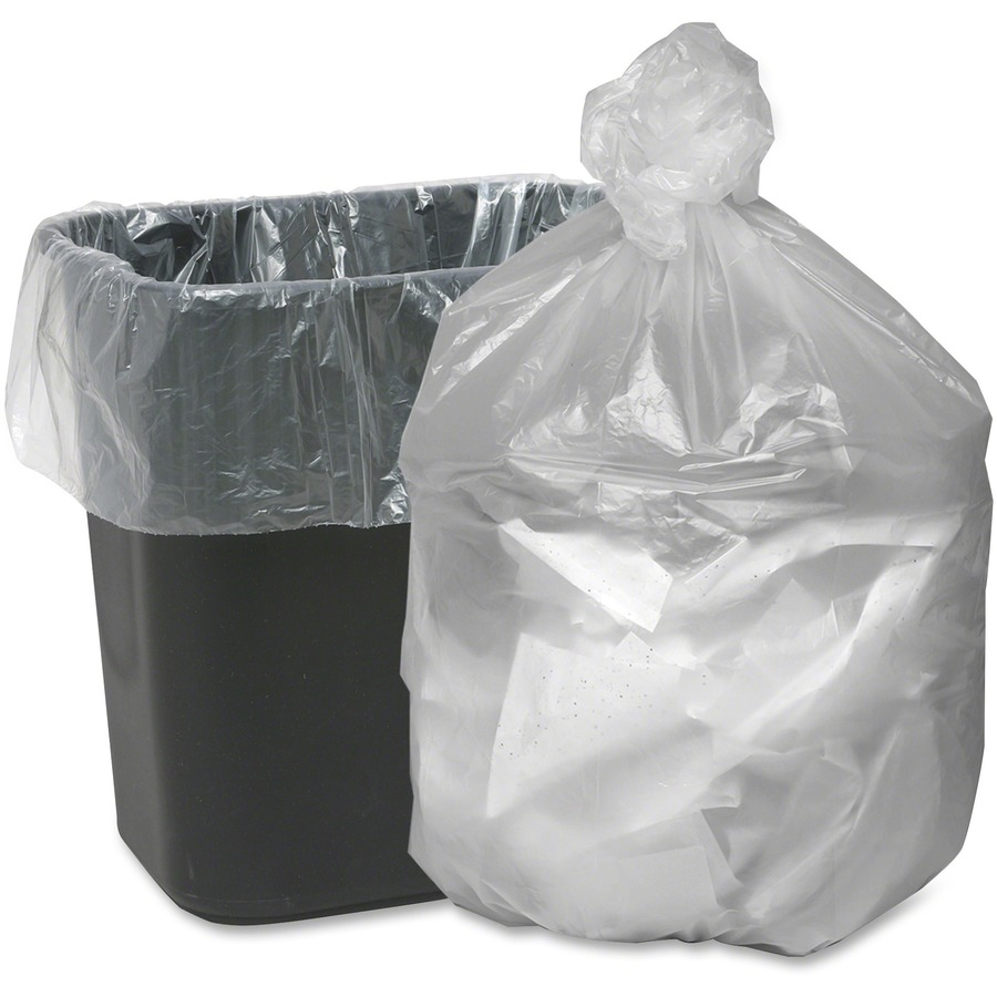 Webster Translucent Waste Can Liners - Small Size - 10 gal
