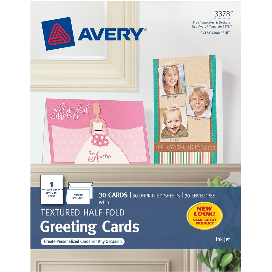 Avery 3378 Avery Textured Half Fold Greeting Cards Ave3378 Ave