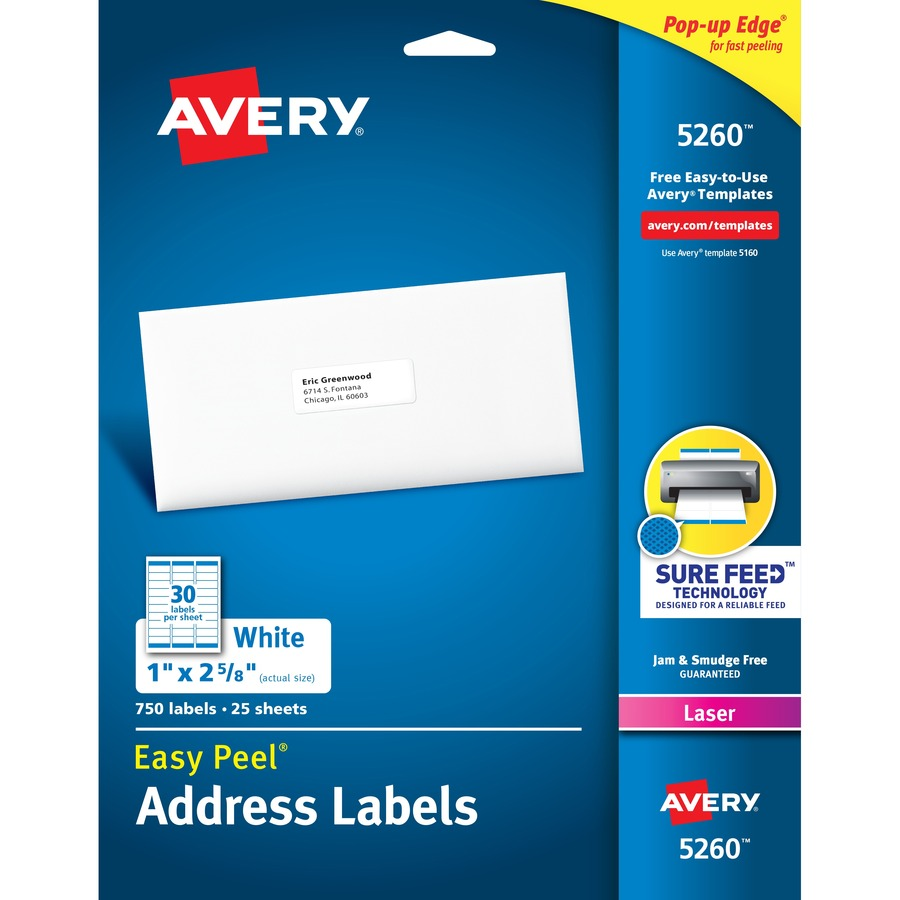 Avery Easy Peel Address Labels With Sure Feed Technology Icc