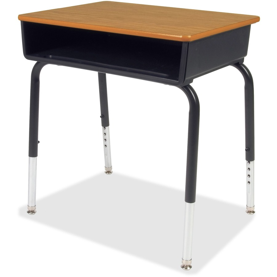Virco 785 open front student desk with book box for Table student