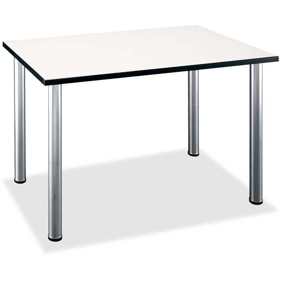 Superbe Bush Business Furniture Aspen Tables 48W X 28 1/2D Rectangle Table In White