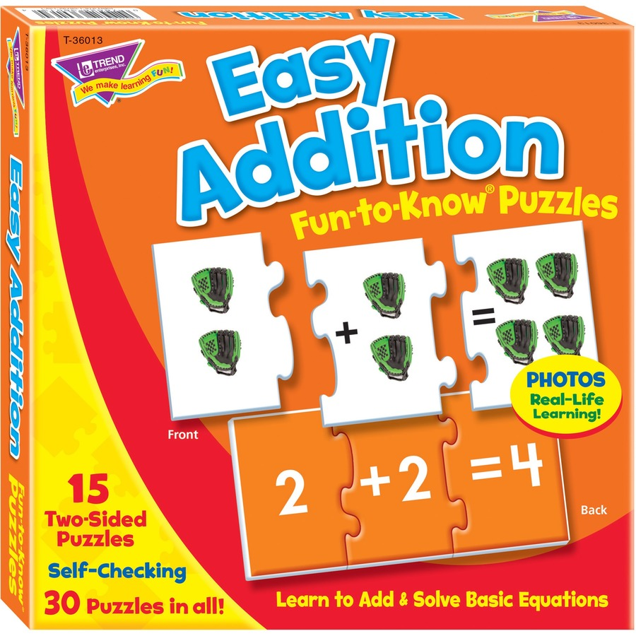 Trend Easy Addition Fun-to-Know Puzzles